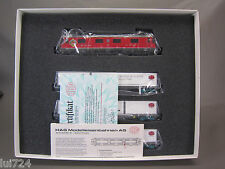 HAG HO SCALE NR 097 ANNIVERSARY SBB ELECTRIC ENGINE AND 3 CONTAINER CARS SET