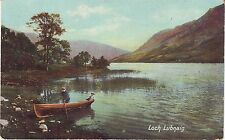 UK Scotland Loch Lubnaig Boat postcard 1909 mailed from Australia