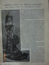 American Wives of English Men Husbands Paget Harcourt Victorian Article 1898
