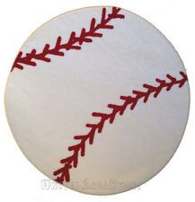 "3x3  Sport  Round  Rug  Baseball  BALL  with  Non Skid Backing  Size 39""  New"