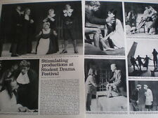 Photo article National Student Drama Festival at Southampton 1965