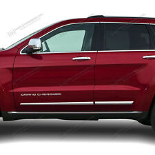 For: JEEP GRAND CHEROKEE; Body Side Moldings LOWER Chrome 2014-2018