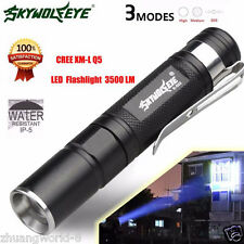 Zoomable 3500LM CREE Q5 3 Mode LED Flashlight Torch Super Bright Light Lamp New