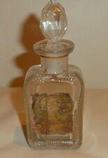 "RARE ANTIQUE EMPTY PERFUME BOTTLE WITH PAPER LABEL AND OPOPONAX LABEL 4 1/4"" H"