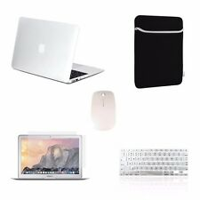 """5 IN 1 Macbook Air 13"""" Rubberized Clear Case + Keyboard Cover + LCD + Bag +Mouse"""
