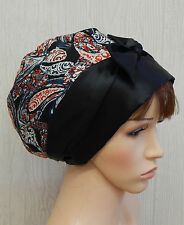 Satin head wear, silky sleeping bonnet, Jewish women head scarf, hair wrap cap