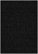 20 SHEETS CHARCOAL BLACK A4 STARDUST SPARKLING GLITTER CRAFT PAPER 120gsm