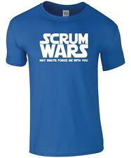 Rugby Fan T-shirt - Funny ' SCRUM WARS' T-shirt -  Rugby Tee / Novelty T-shirt