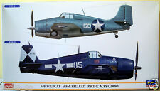 "1/72 Hasegawa F4F & F6F ""Pacific Aces""- Ltd Ed. 01964 c/w Essex & Cabot markings"