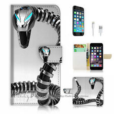 iPhone 7 (4.7') Flip Wallet Case Cover P1047 Iron Snake