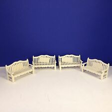 Dept 56 GARDEN PARK BENCH Set of 4 w/box Seasons Bay Village Combine Shipping!