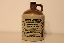 RACOON MOUNTAIN SYRUP KETTLE JUG STONEWARE VINTAGE POTTERY OLD CERAMIC QUART USA