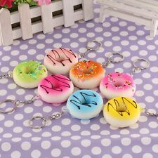 Donuts Soft Squishy Colorful Cell phone Charms Chain Cute Straps Alloy Keychain