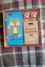 Iphone 5 or 5s cover and earphone set