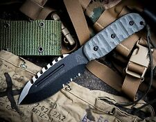 TOPS Stryker Defender Tool Tactical Knife Extremely Solid 1095 Steel, Micarta