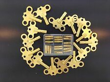 Antique Clock Key Assortment Double End