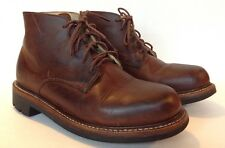 LL Bean Brown Leather Engineer Boot Men's 7 1/2 Dress Casual Vibram Sole