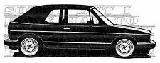 11x30 VW mk1 GOLF GTI Clipper Karmann Convertible Cabriolet Vinyl Decal sticker