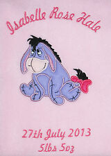 Disney Eeyore Luxury Personalised Applique Super Soft Fleece Blanket