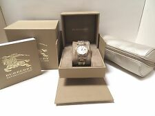 BURBERRY SWISS LADIES GOLDTONE WATCH METAL BAND, BU9103, NIB, $695.00, FREE GIFT