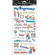 ME & MY BIG IDEAS MAMBI PREGNANCY SAYINGS MATERNITY NEW BABY SCRAPBOOK STICKERS