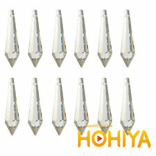 100pc 31mm Icicle Prism Drop Crystal Acrylic Garland Strand Pendant Part Supples