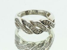 Affinity Sterling Silver Champagne 1/3 Diamond Ring Size 7