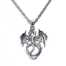 NEW 1pcs Dragon Women Vintage Tibet silver Pendant Necklace Long Chain Jewelry !
