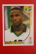 PANINI KOREA JAPAN 2002 # 168 SOUTH AFRICA MCCARTHY WITH BLACK BACK MINT!!!