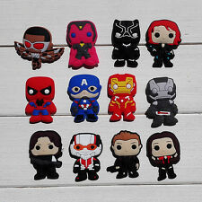 Hot 36pcs Avengers charms shoe accessories fit bracelet&wristband kids gifts