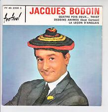 """Jacques BODOIN Vinyle 45 tours 7"""" SP LA LECON D'ANGLAIS - 4 x 2 TWIST -FESTIVAL"""