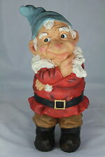 "GARDEN GNOME - 12"" THINKING GNOME -TRADITIONAL GARDENER'S GIFT - WHO, WHAT, WHY?"