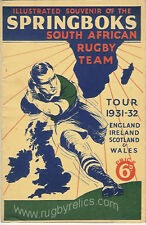 1931-32 SPRINGBOKS RUGBY PRE-TOUR ILLUSTRATED BOOKLET SOUTH AFRICA to BRITAIN
