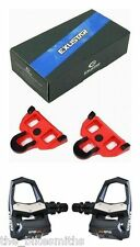 Exustar E-PR18ST SPD-SL Clipless Road Bike Pedals w/ Cleats fit Shimano 153g ea