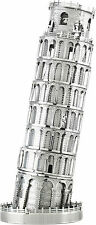 Schiefer Turm von Pisa 3D-Metall-Bausatz Silver-Edition Metal Earth 1046