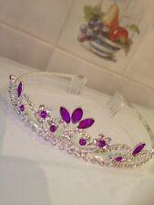 Purple  tiara /Wedding tiara /Tiara/Prom tiara/Elsa from frozen tiara