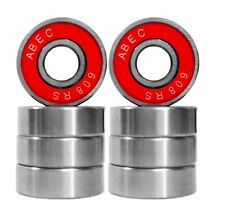 8 Wheel Bearings for Pro Stunt Scooter & Skateboards Skate Park - ABEC7 ABEC 7