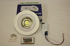 NEW RGB WITH REMOTE CONTROL COB LED  DOWNLIGHT 6W+6W COOL WHITE IP65 FIRE RATED