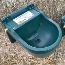 WATER TROUGH 9.3L &  AUTOMATIC FLOAT - FENCE DRINKER HORSE CATTLE CAT DOG