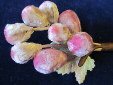 "Millinery Flower 1"" Velvet Bud Lot 8p Shades of Pink for Hat Bride + Hair Y54"