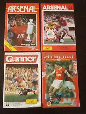 Arsenal v Chelsea x4 Bundle Job Lot 1984/5 1986/7 1987/8 1995/6 Programmes