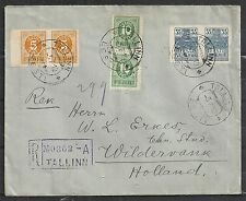 Estonia covers 1919 3 Pairs R-cover Tallinn to Wildervank