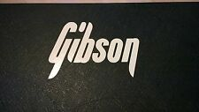Gibson decal logo autocollant pour guitare hard case, amp cab, wall art, fenêtre, voiture