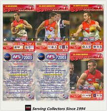 2003 AFL Teamcoach How To Play Trading Card Team Set Sydney (8)
