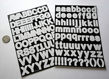 SCRAPBOOKING NO 118 + MEDIUM WHITE ALPHABET / LETTERS STICKERS