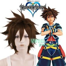 KINGDOM HEARTS II Sora Short Brown Heat Resistant Anime Cosplay Wig