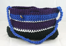 lotte-vogel Borsa (borsa 47x27cm) (viola-blu-viola-nero) - Made in Germania