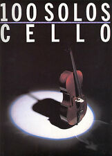 100 Solos for Cello Sheet Music Book Learn to Play NEW