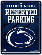 """PENN STATE NITTANY LIONS 8.5""""x11"""" METAL RESERVED PARKING SIGN RICO INDUSTRIES"""