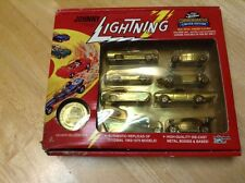 JOHNNY LIGHTNING COMMEMORATIVE LIMITED EDITION SET OF 8 GOLD 1:64 DIE CAST CARS